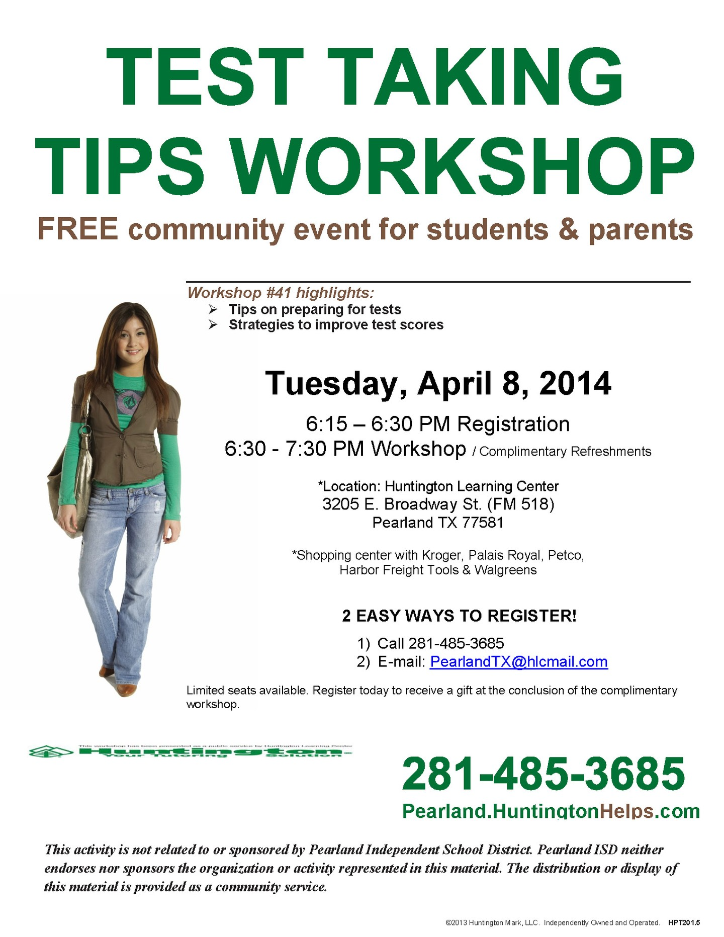 FREE Test Taking Tips Workshop for PISD Students and ...