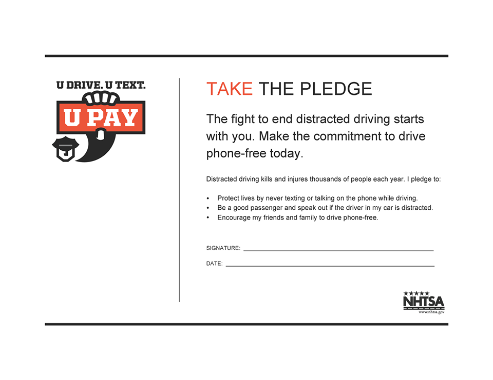 Safe Teen Driving Pledge Get 40