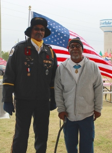 Brazoria County Combined Honor Guard representative Harry Gaul and Clarence Sasser