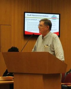 Former City Councilmember Larry Marcott opposes the proposed rezoning application.