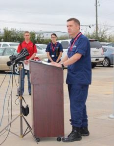 Coast Guard Captain Brian Penoyer addressed the media at a press conference Tuesday (March 10) morning.