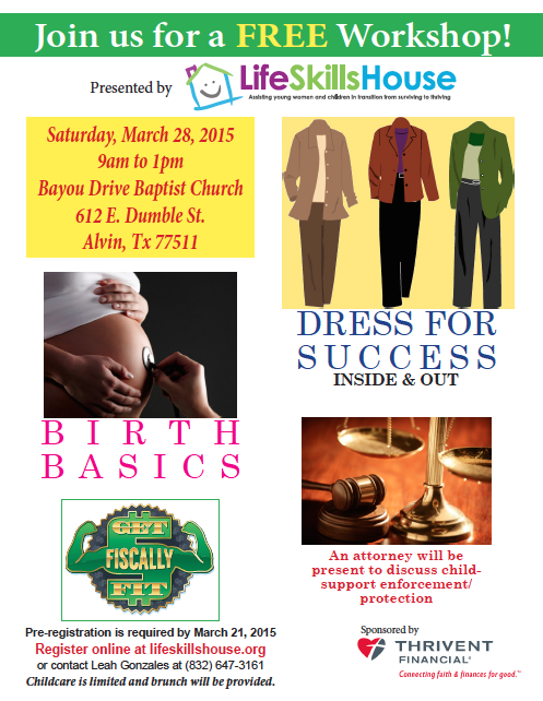 FREE Workshops at Life Skills House | The Grapevine Source