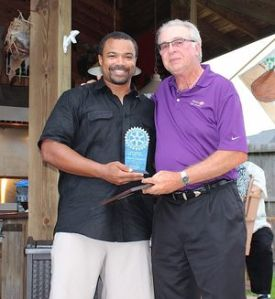 Johnson and George Carpenter, Rotarian of the Year.