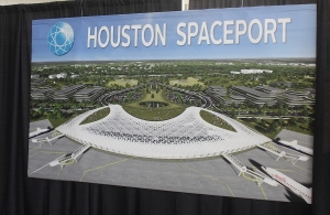 Artist rendering of one of the spaceport buildings.