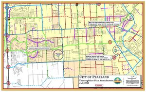 Proposed amendments to the Thoroughfare Plan.
