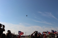 Military helicopter flyover