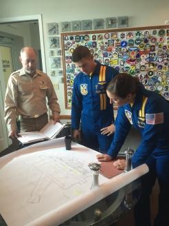 Bill Roach, Lt. Tyler Davies and Capt. Corrie Mays