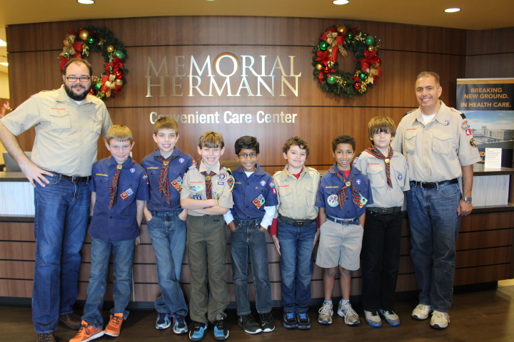 Scouts Visit Pearland CCC