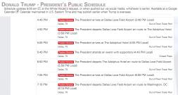 President Trump's Dallas schedule for 5/31/18