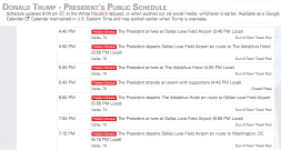 President Trump's Dallas schedule for 5/31/18