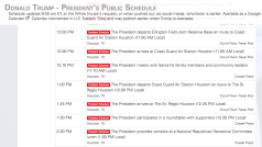 President Trump's Houston schedule for 5/31/18