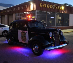 The lights on the '37 Dodge