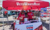 VetsWhatsNext booth at Unite for Troops event (Maj. King far right)