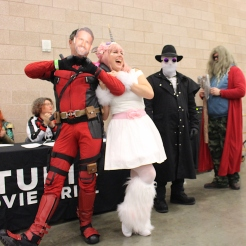 Adult winners: Deadpool/Unicorn, Invisible Man and Drunk, fat Thor