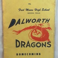 A program for the Homecoming game at Dalworth High in 1962