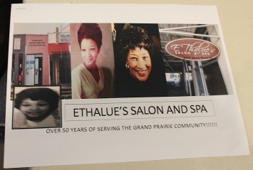 A flyer for Ethalue's Salon and Spa