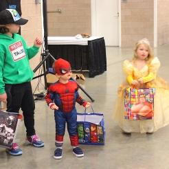 Children's winners: Talos, Spider-Man and Belle